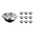 Multipack 10x Noxion Lucent LED Spot AR111 G53 Pro 12V 12W 930 40D| Warm White - Best Colour Rendering - Dimmable - Replaces 50W