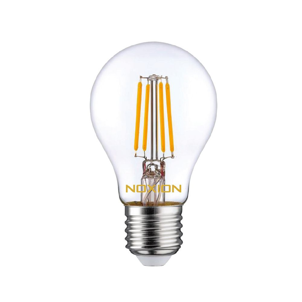 Noxion Lucent Filament LED Bulb 8W 827 A60 E27 Clear | Extra Warm White - Replaces 75W