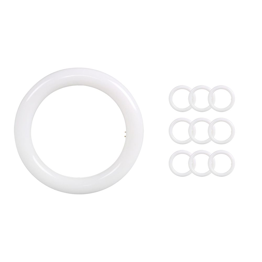 Multipack 10x Noxion Avant LED T9 Tube Circular EM/MAINS 20W 840   Cool White - Replaces 32W
