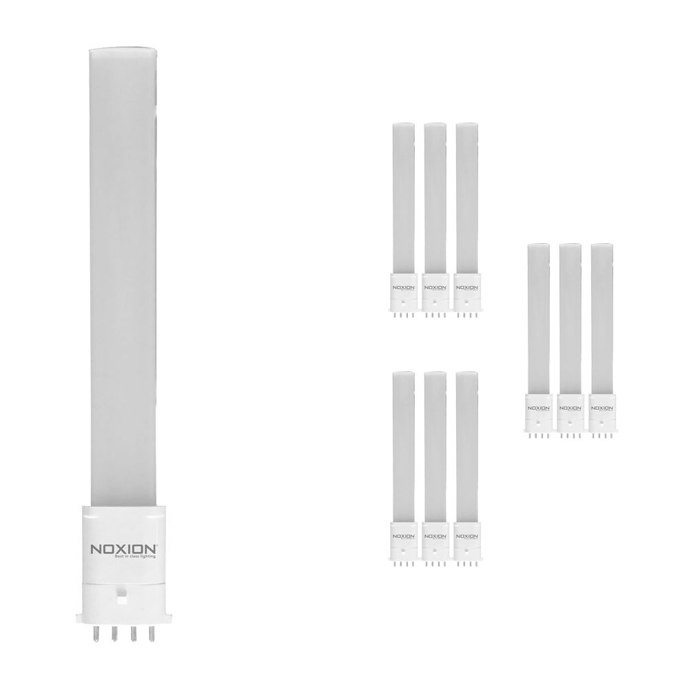 Multipack 10x Noxion Lucent LED PL-S EM 6W 840   Cool White - 4-Pin - Replaces 11W