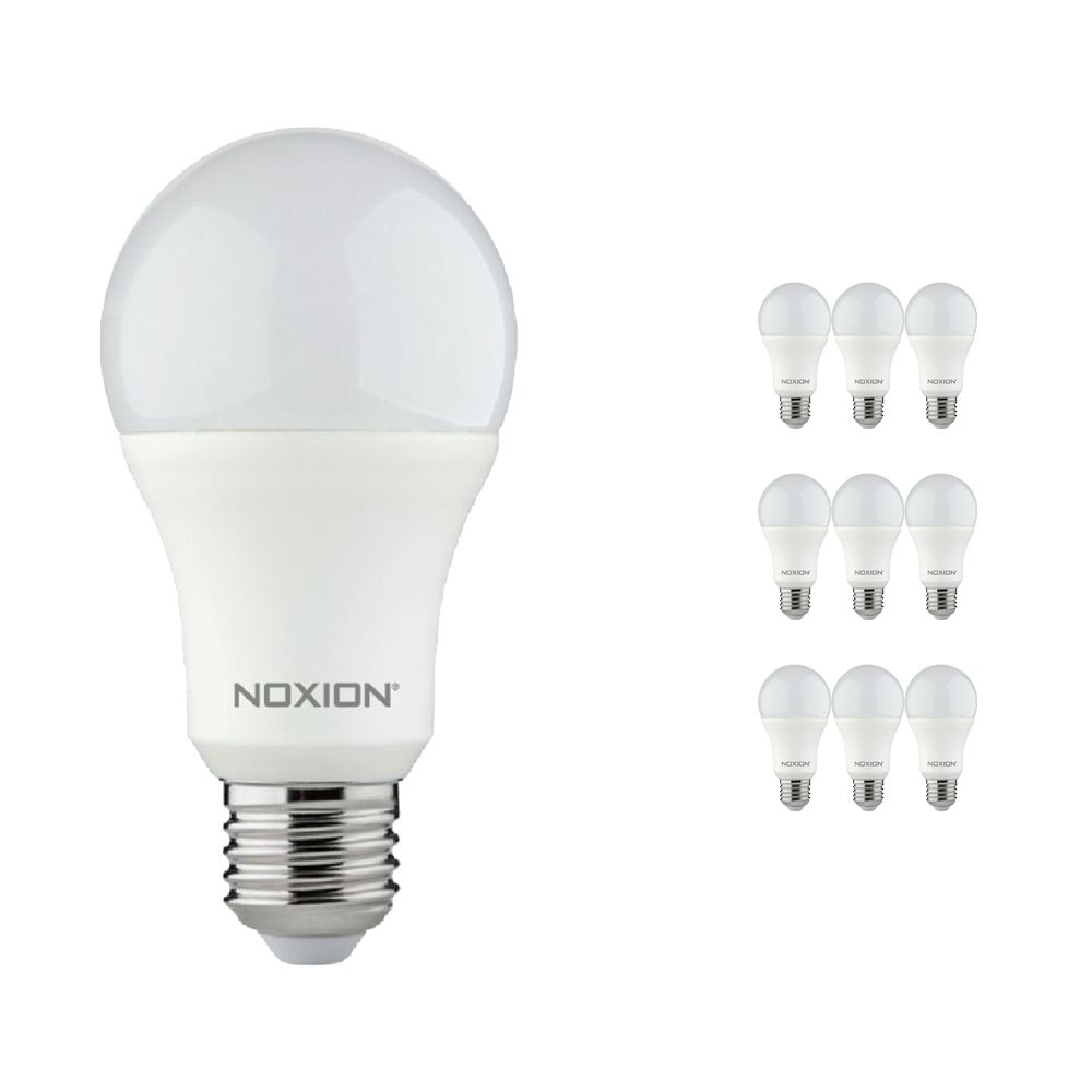 Multipack 10x Noxion Lucent LED Classic 11W 840 A60 E27   Cool White - Replaces 75W