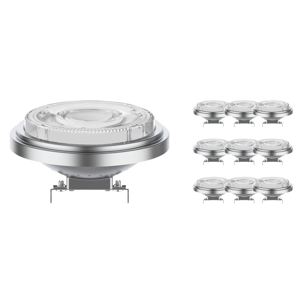 Multipack 10x Noxion Lucent LED Spot AR111 G53 12V 7.3W 930 24D   Dimmable - Best Colour Rendering - Replaces 50W