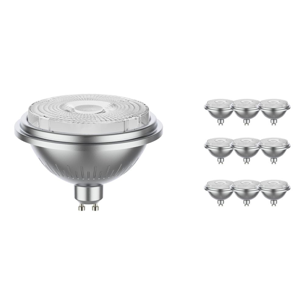 Multipack 10x Noxion LEDspot AR111 GU10 7.5W 927 40D 530lm   Dimmable - Extra Warm White - Replaces 50W
