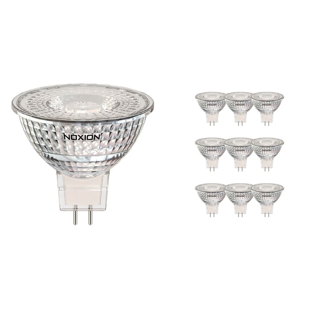 Multipack 10x Noxion LED Spot GU5.3 5W 827 60D 470lm | Dimmable - Extra Warm White - Replaces 35W