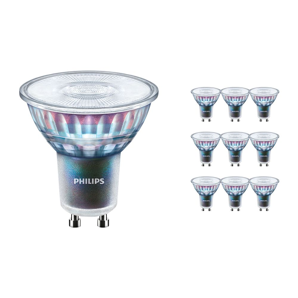 Multipack 10x Philips LEDspot ExpertColor GU10 3.9W 927 36D (MASTER)   Best Colour Rendering - Very Warm White - Dimmable - Replaces 35W