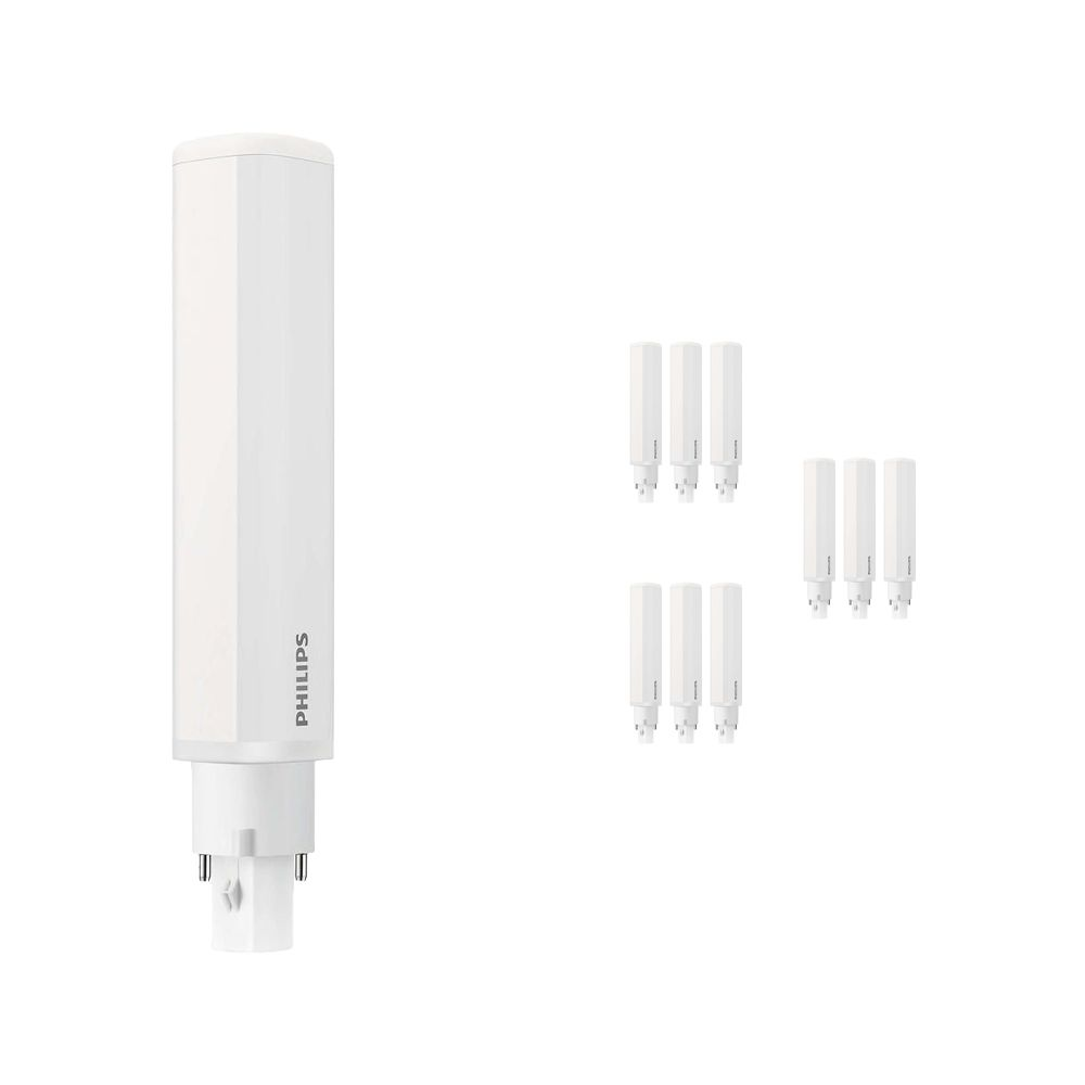 Multipack 10x Philips CorePro PL-C LED 8.5W 840   Cool White - 2-Pin - Replaces 26W