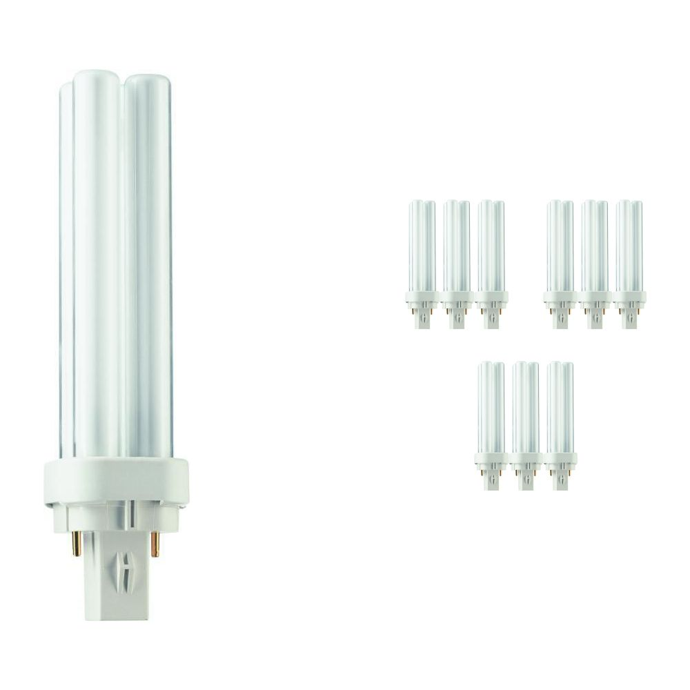 Multipack 10x Philips PL-C 13W 840 2P (MASTER) | Cool White - 2-Pin