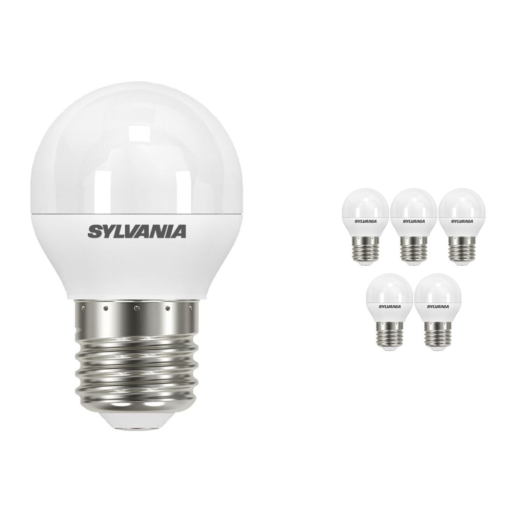Multipack 6x Sylvania ToLEDo Ball E27 P45 Frosted 5.5W   Replaces 40W
