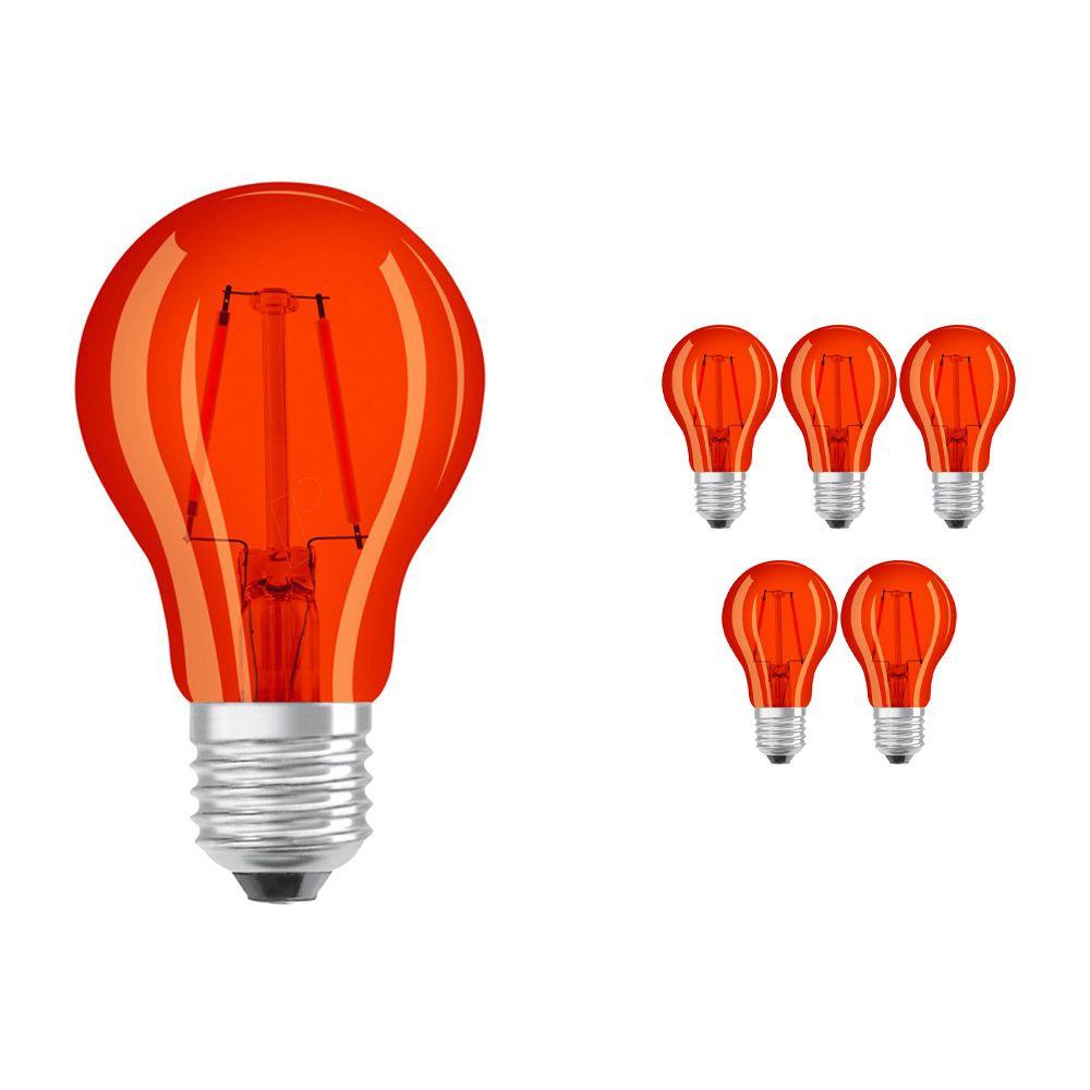 Multipack 6x Osram Parathom Classic Color E27 2W | Orange - Replaces 15W
