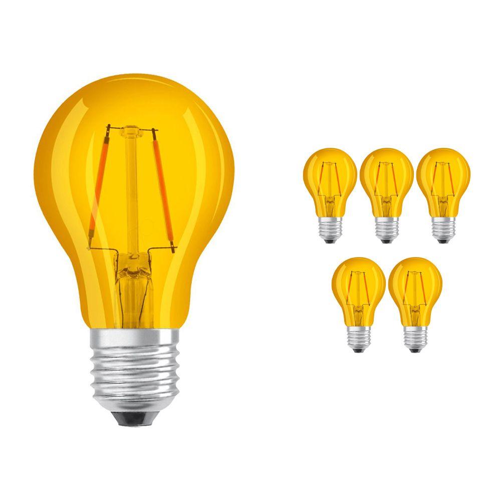 Multipack 6x Osram Parathom Classic Color E27 2W | Yellow - Replaces 15W