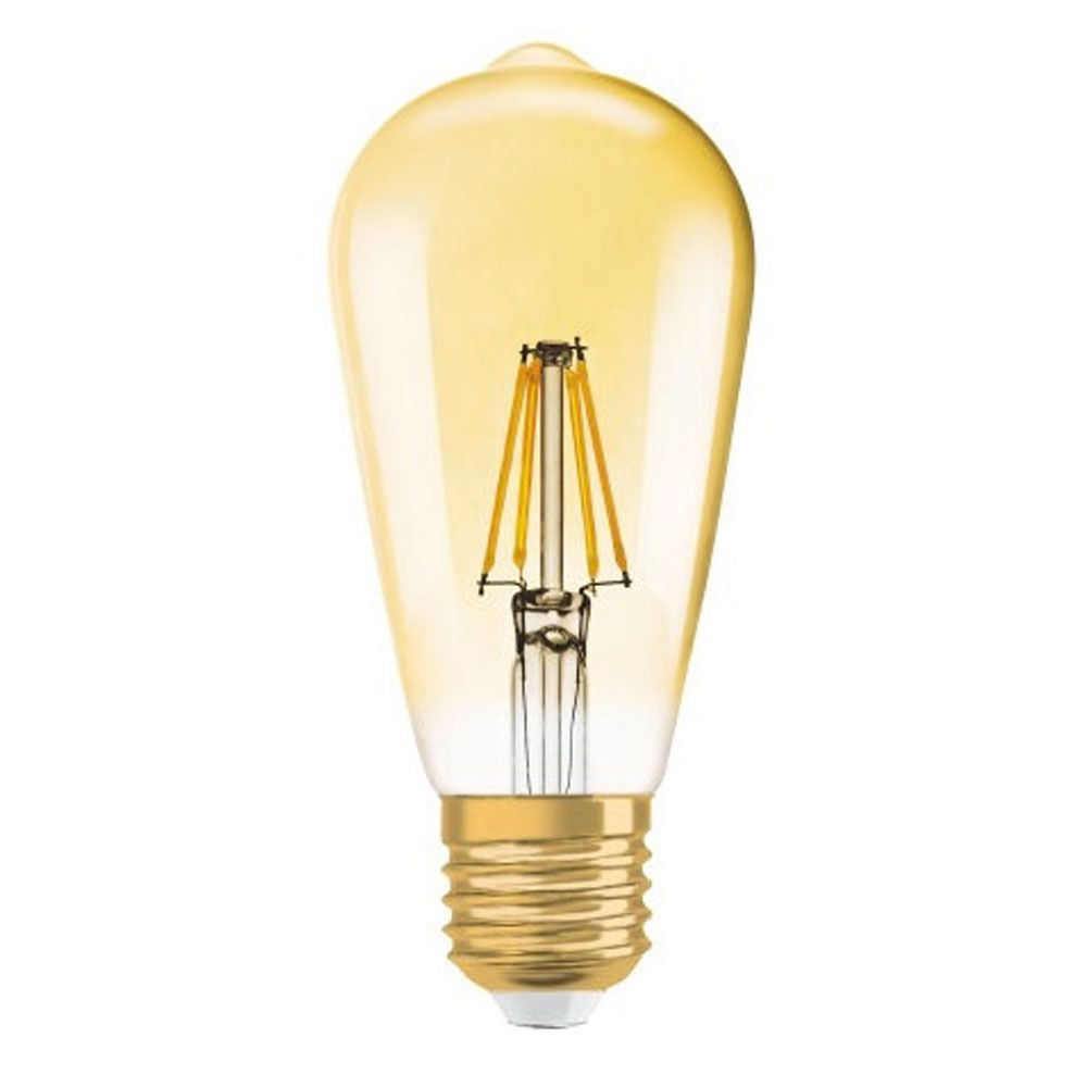 Osram Vintage 1906 LED E27 Edison 7W 825 Gold | Dimmable - Replaces 55W