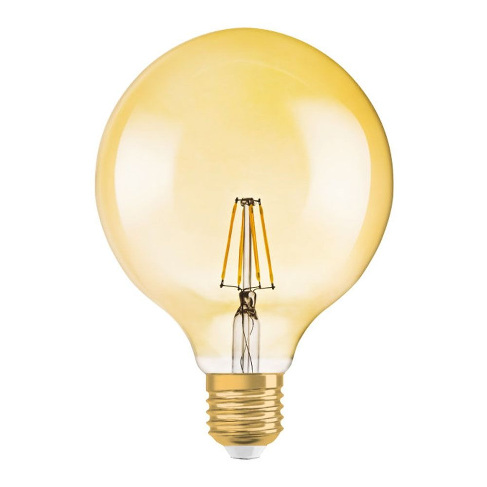 Osram Vintage 1906 LED E27 Globe 7.5W 824 Gold   Dimmable - Replaces 50W