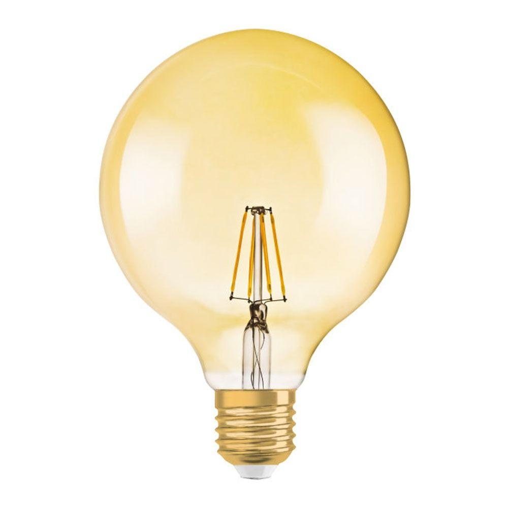 Osram Vintage 1906 LED E27 Globe 2.8W 824 Gold | Replaces 20W