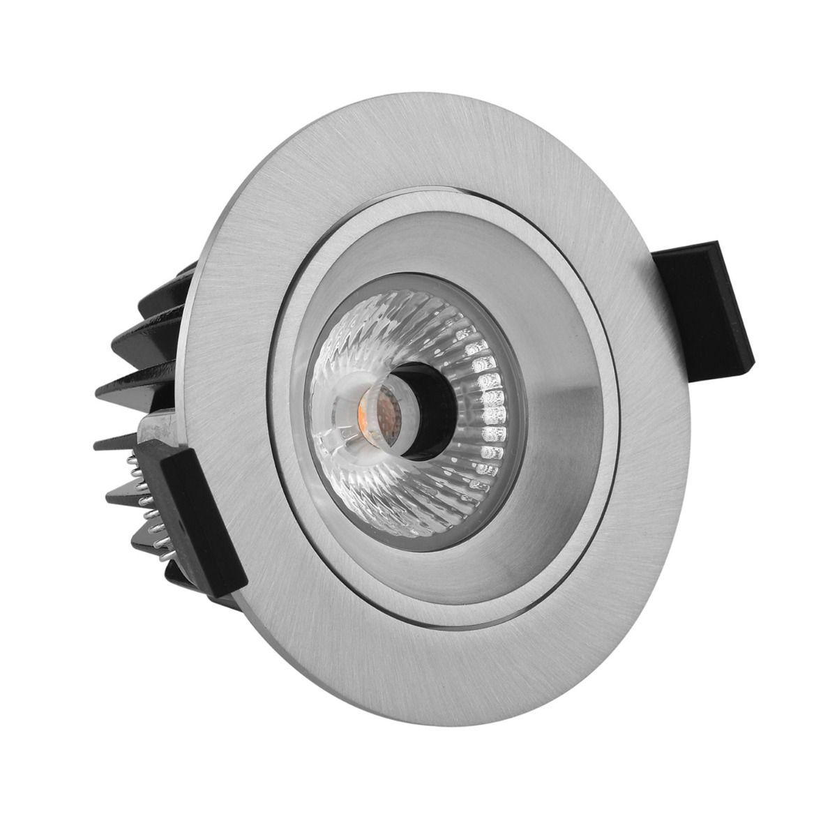 Noxion LED Spot Diamond IP44 2700K Aluminium   Best Colour Rendering - Dimmable