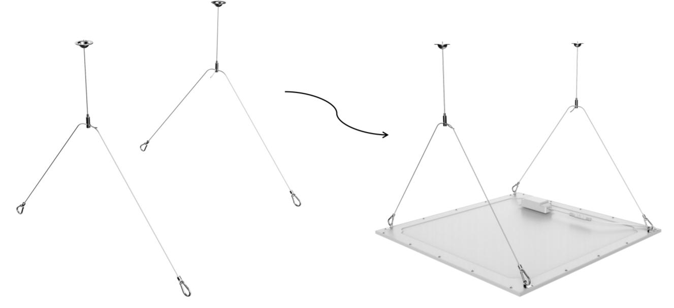 Suspension kit for Noxion LED panels