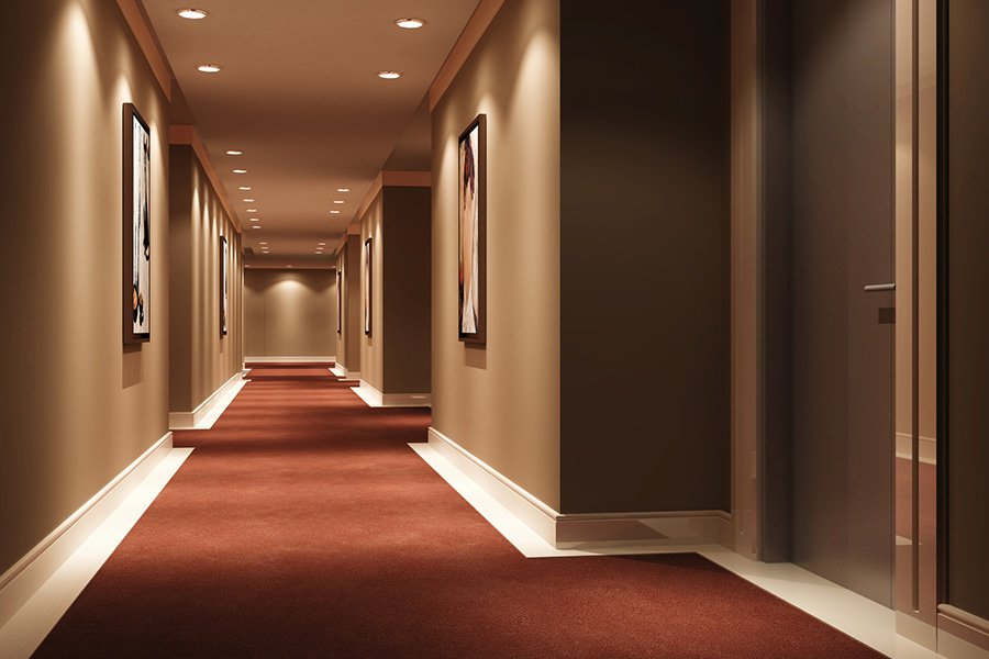 hotel corridor lighting